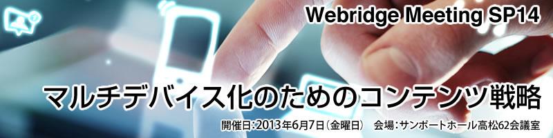 Webridge Meeting SP14 マルチデバイス化のためのコンテンツ戦略